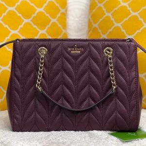 🌸OFFERS?🌸Kate Spade Burgundy Quilt Satchel